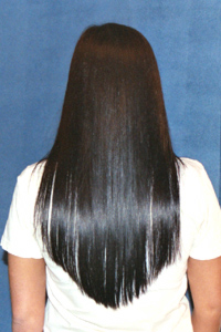Thickening with hair extensions