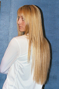 Lengthening with hair extensions