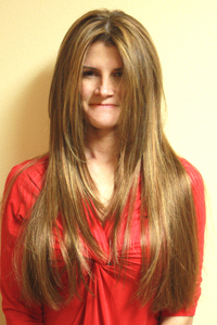 hair extension model from Tacoma